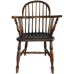 19th Century Windsor Extended Armchair