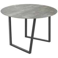 Salvatori Round Dritto Dining Table Lithoverde® Gris du Marais by Piero Lissoni