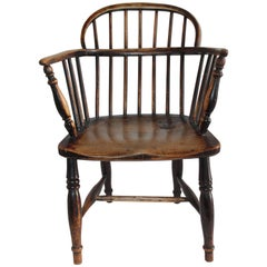 Extended Arm English 19th Century Windsor Chair