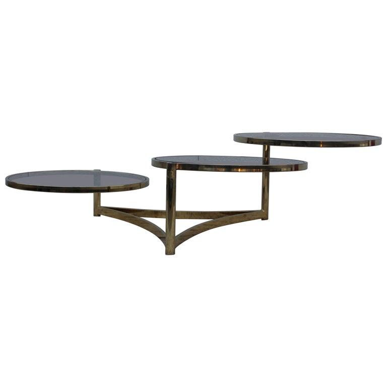 1970s Italian Swivel Coffee Table