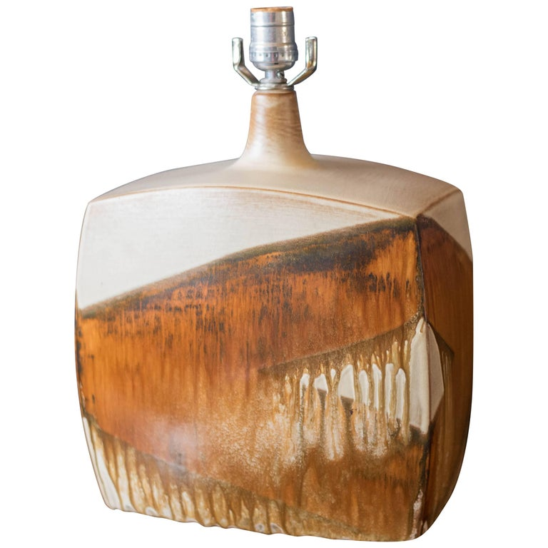Vintage Ceramic Drip Glaze Table Lamp