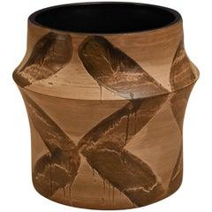 Vintage Drip Glaze Studio Pottery Planter