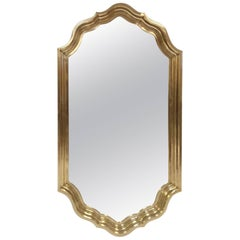 Hollywood Regency Brass Scalloped Edge Mirror