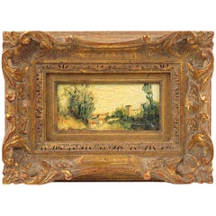 20th Century French Alexandre Mediterranean Landscape Miniature Painting