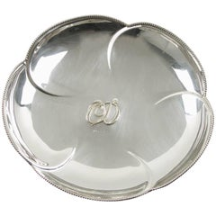 Christian Dior Home Collection Silver Plate Ring Holder Display Serving Bowl