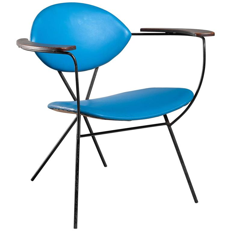 Blue Joseph Cicchelli Chair for Reilly Wolf, USA, 1950s 1