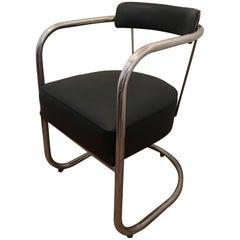 Nr 33 Thonet Steel Chroom Chair Hans and Wassily Luckhardt by Mucke-Melder