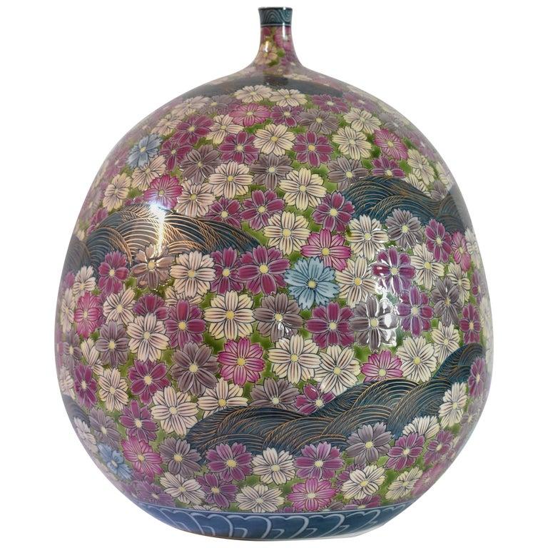 Contemporary Japanese Imari Porcelain Vase by Master Artist 2017
