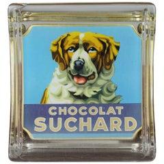 Vintage Glass Counter Money Valve, Chocolate Suchard Switzerland, 1950s