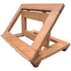 Adjustable Folding Oak Book Stand