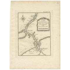 Antique Map of the Tonkin River 'Vietnam' by J.N. Bellin, 1764