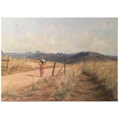 Stan Altchedjian South African Painting Kalahari Karoo Desert