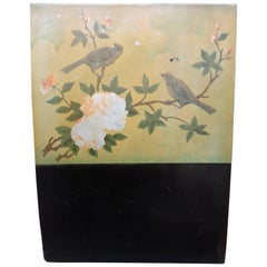 Art Deco Japanese Lacquered Wood Panel