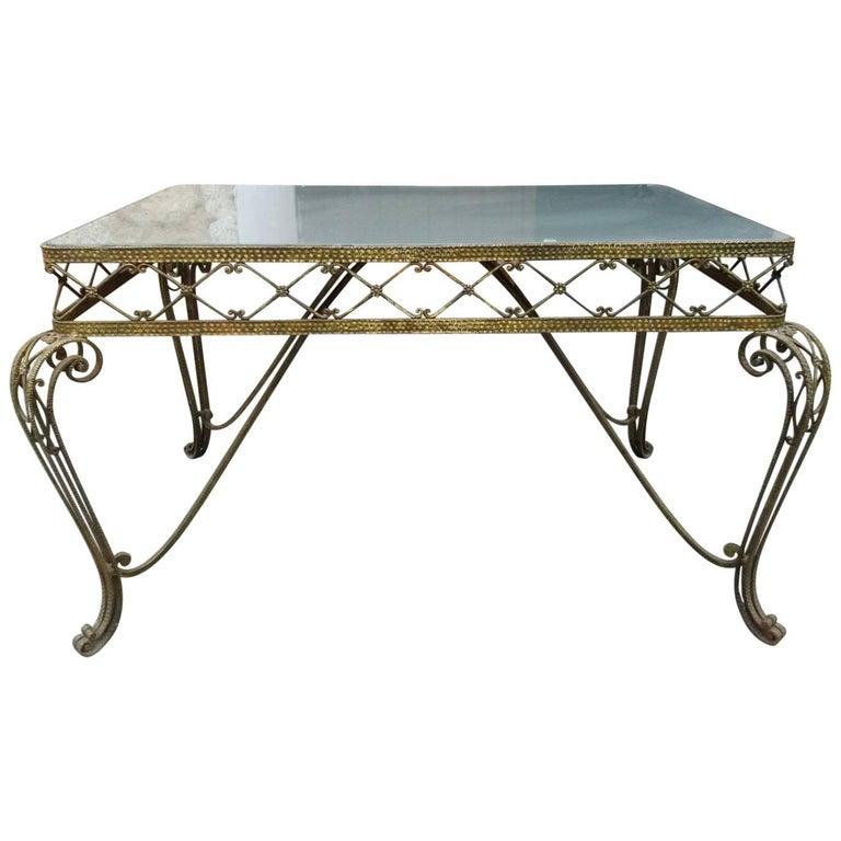 Midcentury Regency Italian Console Table Attribute to Pier Luigi Colli, 1950s