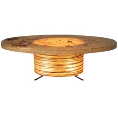 Illuminated Coffee Table by D'accolay, France, 1960s
