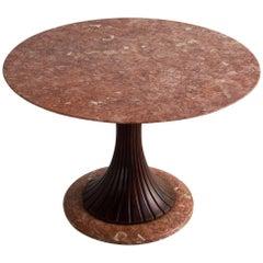 Osvaldo Borsani Round Marble Dining Table