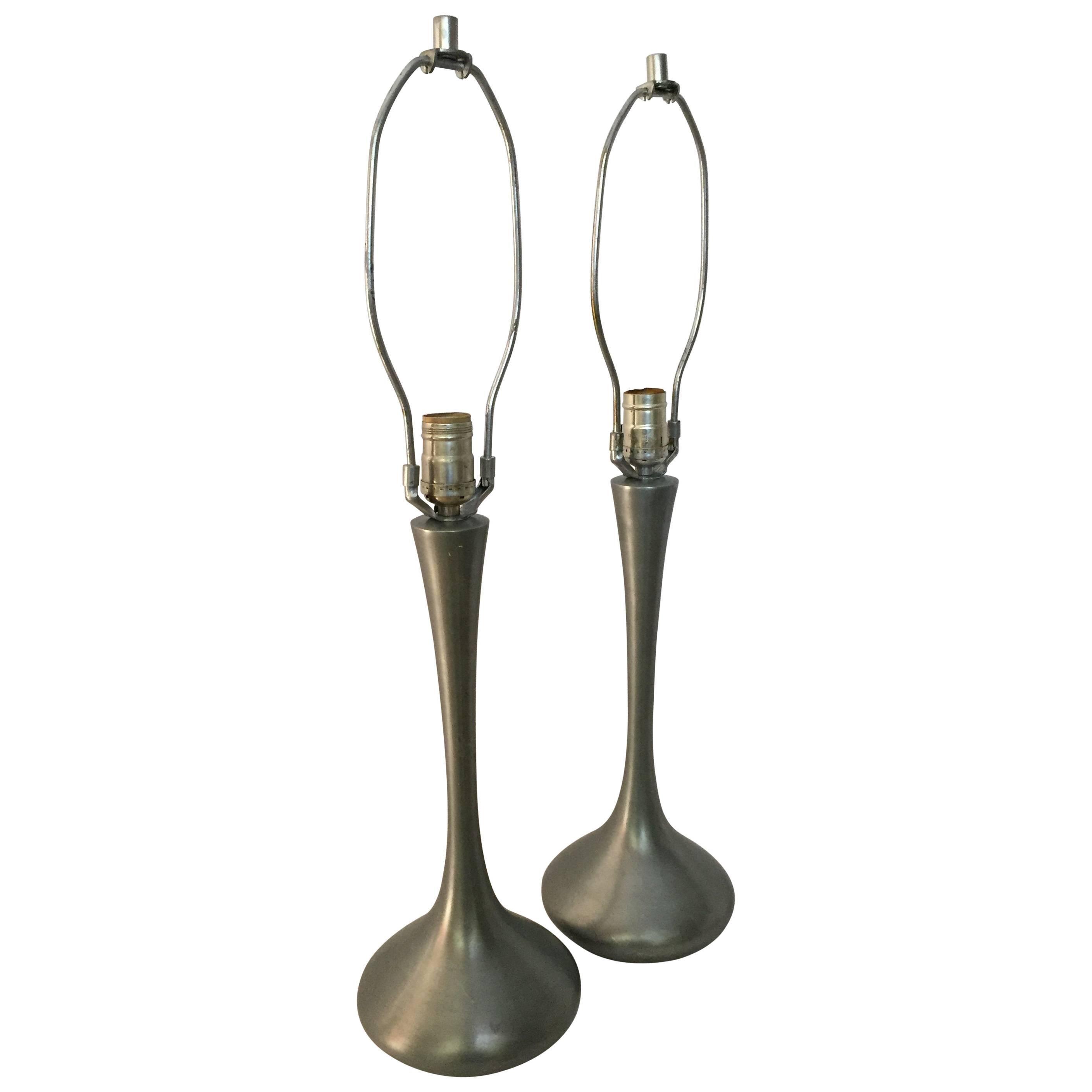 Pair of Laurel Tulip Lamps