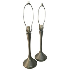 Pair of Laurel Tulip Lamps