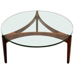 Rosewood Coffee Table Danish Rosewood by Sven Ellekaer for Christian Linneberg