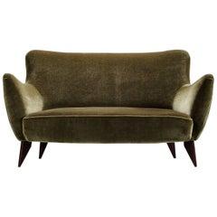 Guglielmo Veronesi Olive Green Curved Sofa