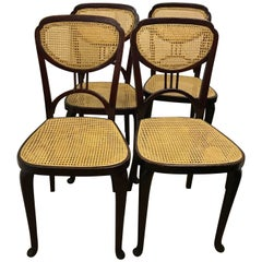 Jugendstil or Art Nouveau Thonet Chairs in  Catalogue of 1910 , Set of 4