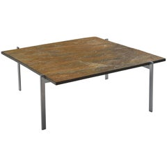 Poul Kjærholm PK61 Coffee Table in Patinated Ocre Slate