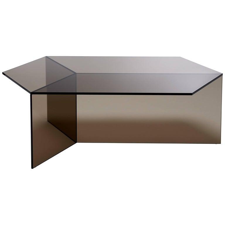 Isom Oblong Bronze Side Table by Sebastian Scherer for Neo Craft