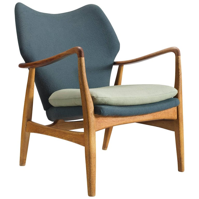 Aksel Bender Madsen Teak and Oak Lounge Chair