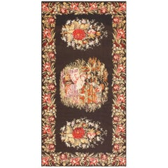 Antique Flat-Woven Romanian Bessarabian Kilim Rug. Size: 6 ft 3 in x 11 ft 6 in