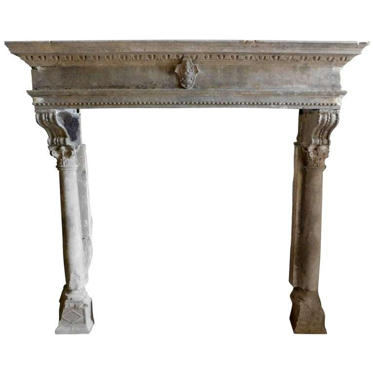 16th Century Antique Stone Fireplace Mantel For Sale At 1stdibs