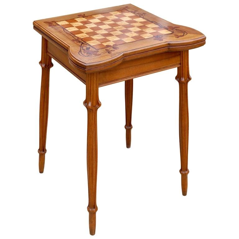 Louis Majorelle Signed Art Nouveau Game Table, 1900