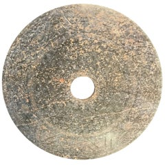 Important Ancient China Jade Bi Disc, Han Dynasty 206 BC- 220 AD, #2