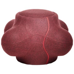 Moooi Elements 005 Stool/Container by Jaime Hayon in Burgundy Divina Melange