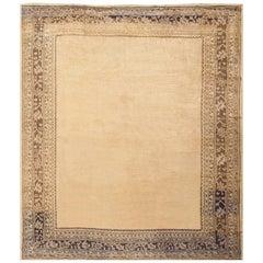 Decorative Antique Open Field Design Turkish Oushak Rug