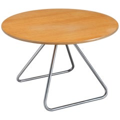 Nanna Ditzel Circular Side Table with Tubular Steel