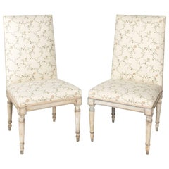 Pair of Swedish Painted Chairs