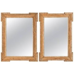 Pair of Pine Mirrors with Dog Ear Corners