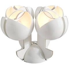 Gae Aulenti La Ruspa Four Shades Lamp for Martinelli Luce
