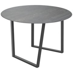 Salvatori Round Dritto Dining Table Lithoverde® Pietra D'avola by Piero Lissoni