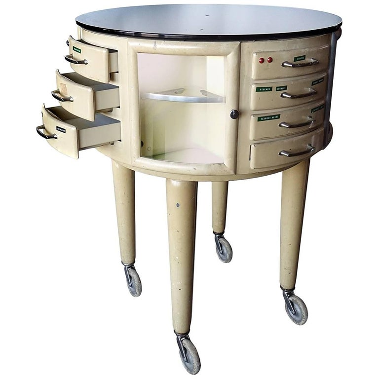 French Rotating Dental Table For Sale