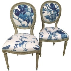 Gustavian Pair of Side Chairs