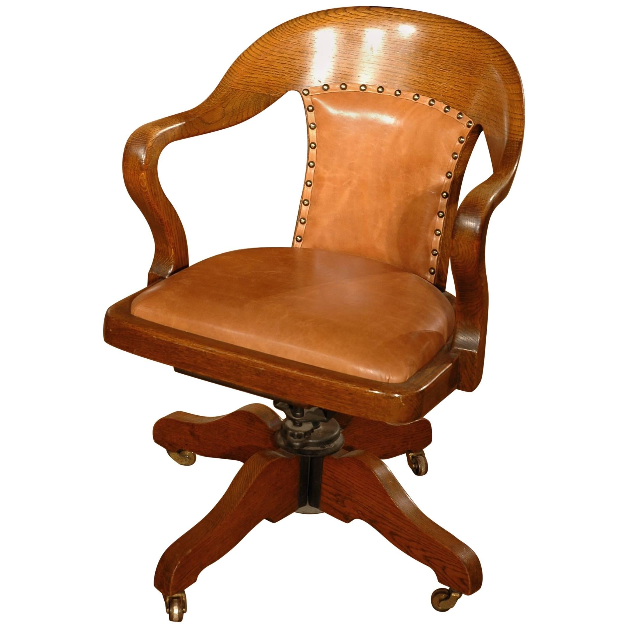 Antique Oak Desk Chair At 1stdibs Rh Com Armless With Arms