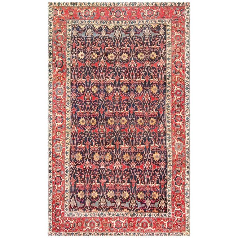 Antique Blue Persian Bidjar Carpet