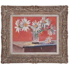 French 19th Century Framed Floral Oil Painting