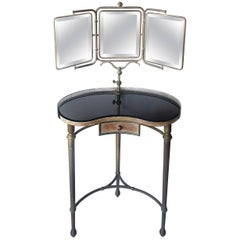 French Art Deco Articulated Mirror Vanity