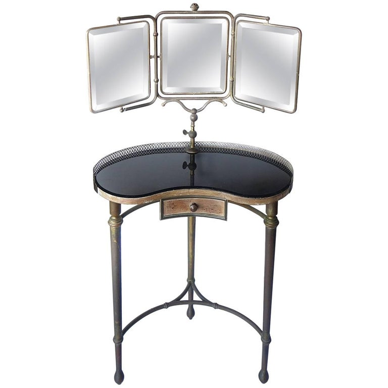 French Art Deco Articulated Mirror Vanity For Sale