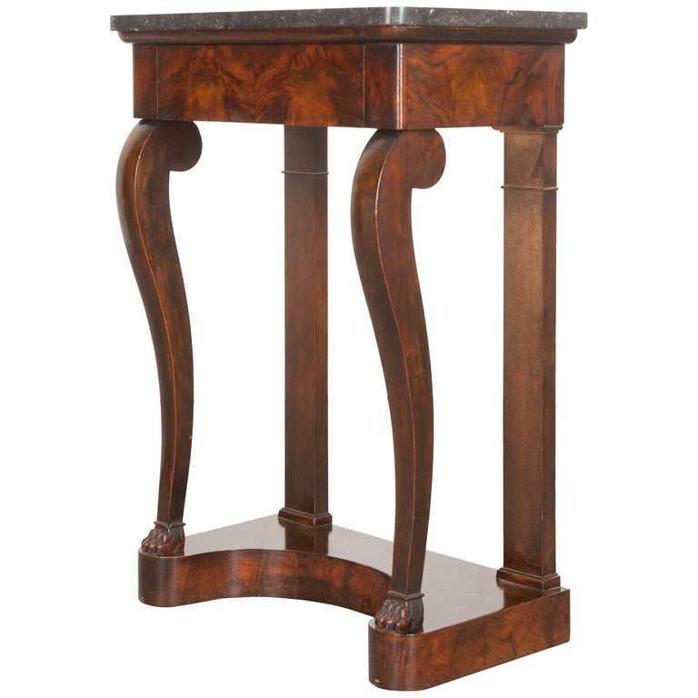 French 19th Century Petite Burl Rosewood Restauration Console