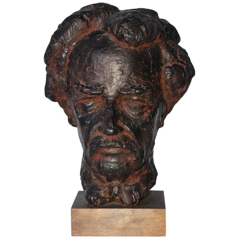 Head Sculpture, Mark Twain For Sale