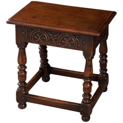 English 19th Century Oak Joint Stool