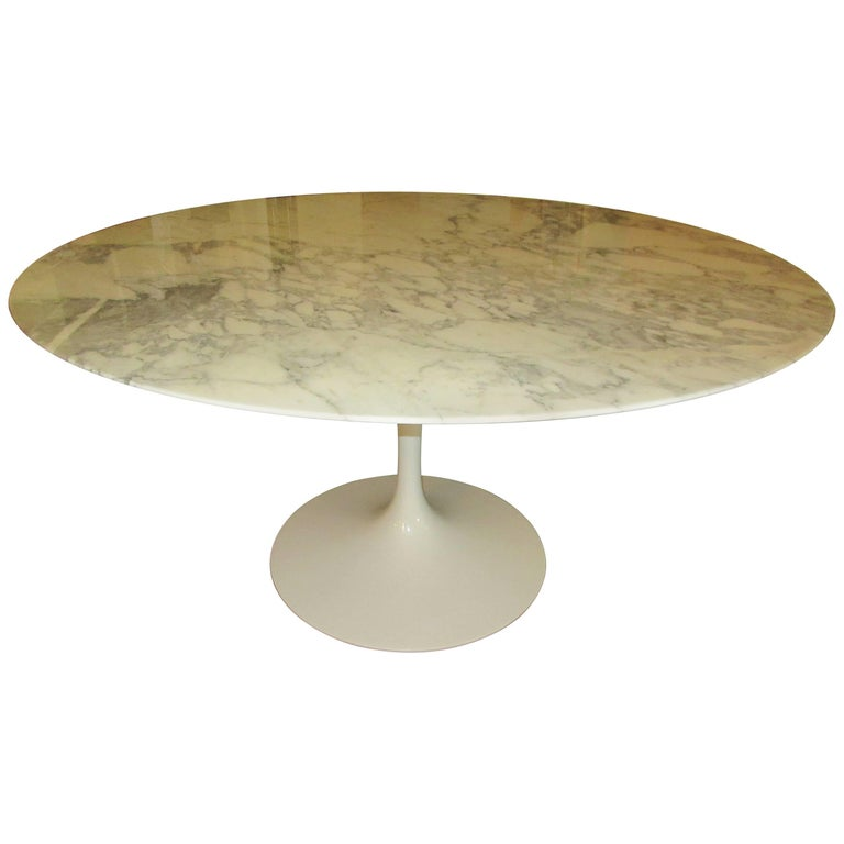 Eero Saarinen for Knoll Arabescato Marble Dining Table 1